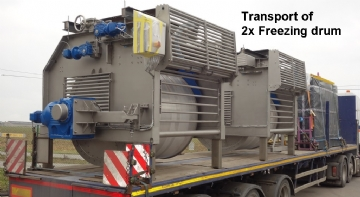 Transport 2x Freezing drum